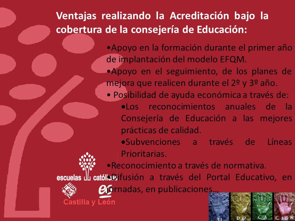 Castilla y León Ventajas realizando la Acreditación bajo la cobertura de la consejería de Educación: