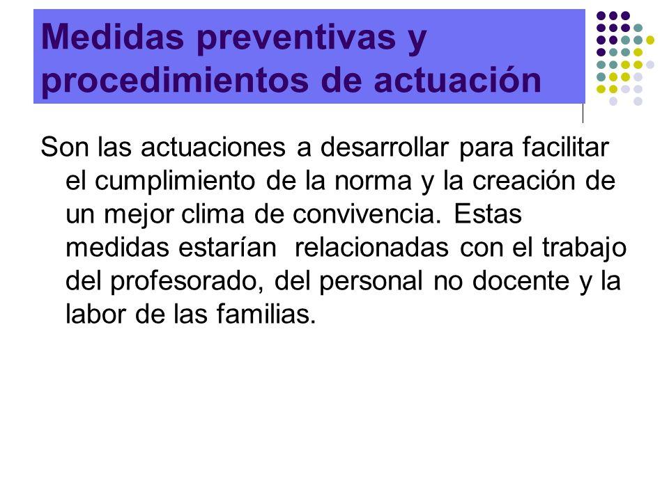 Medidas preventivas y procedimientos de actuación