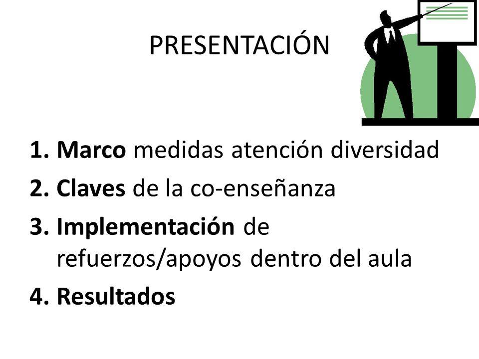 PRESENTACIÓN Marco medidas atención diversidad