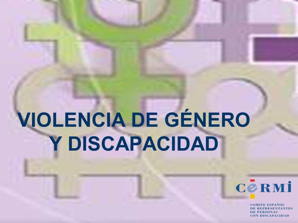 VIOLENCIA DE GÉNERO Y DISCAPACIDAD