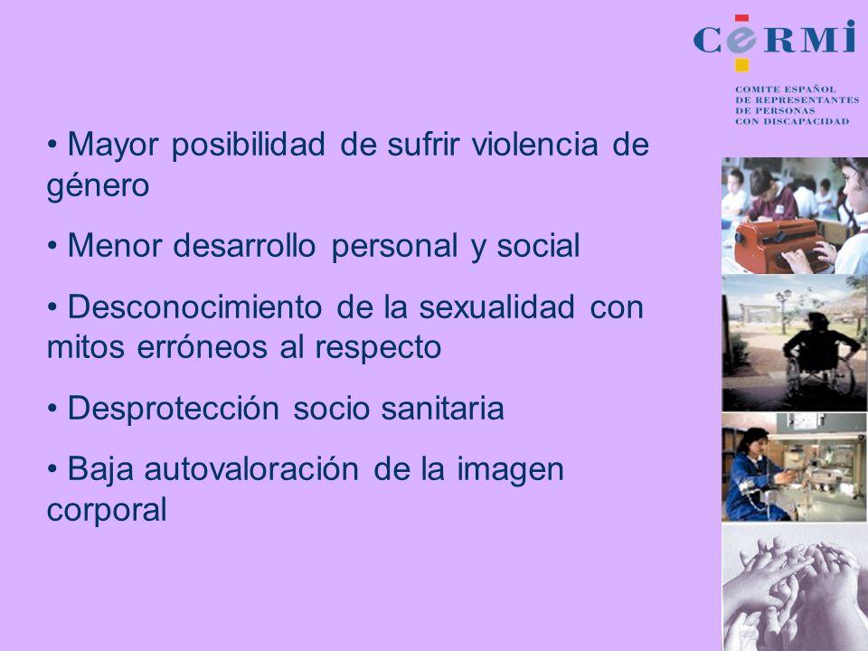 Mayor posibilidad de sufrir violencia de género