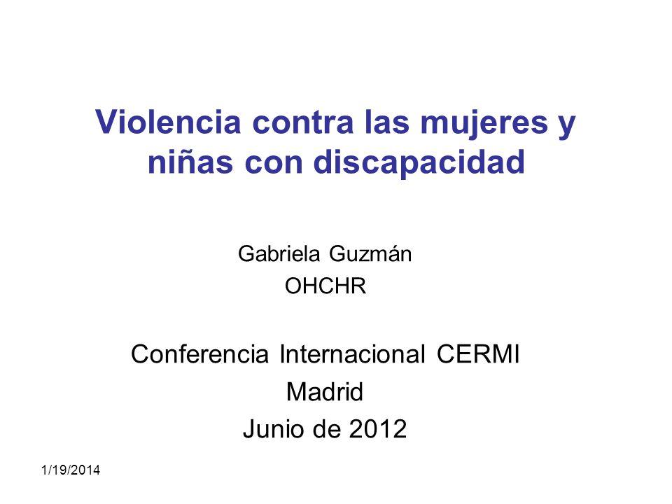 Violencia contra las mujeres y niñas con discapacidad