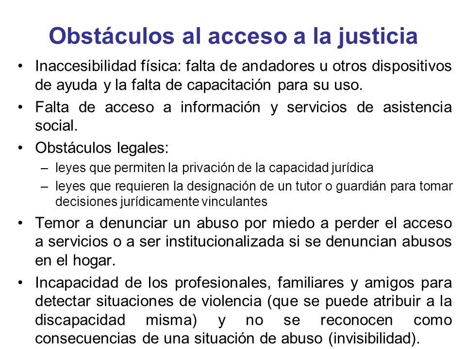 Obstáculos al acceso a la justicia