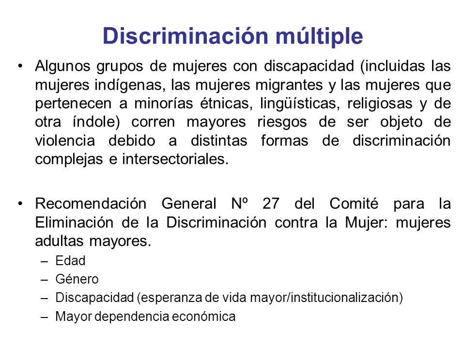 Discriminación múltiple