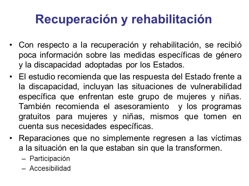 Recuperación y rehabilitación