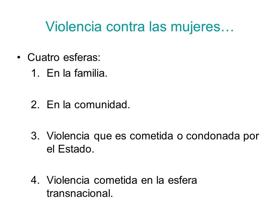 Violencia contra las mujeres…