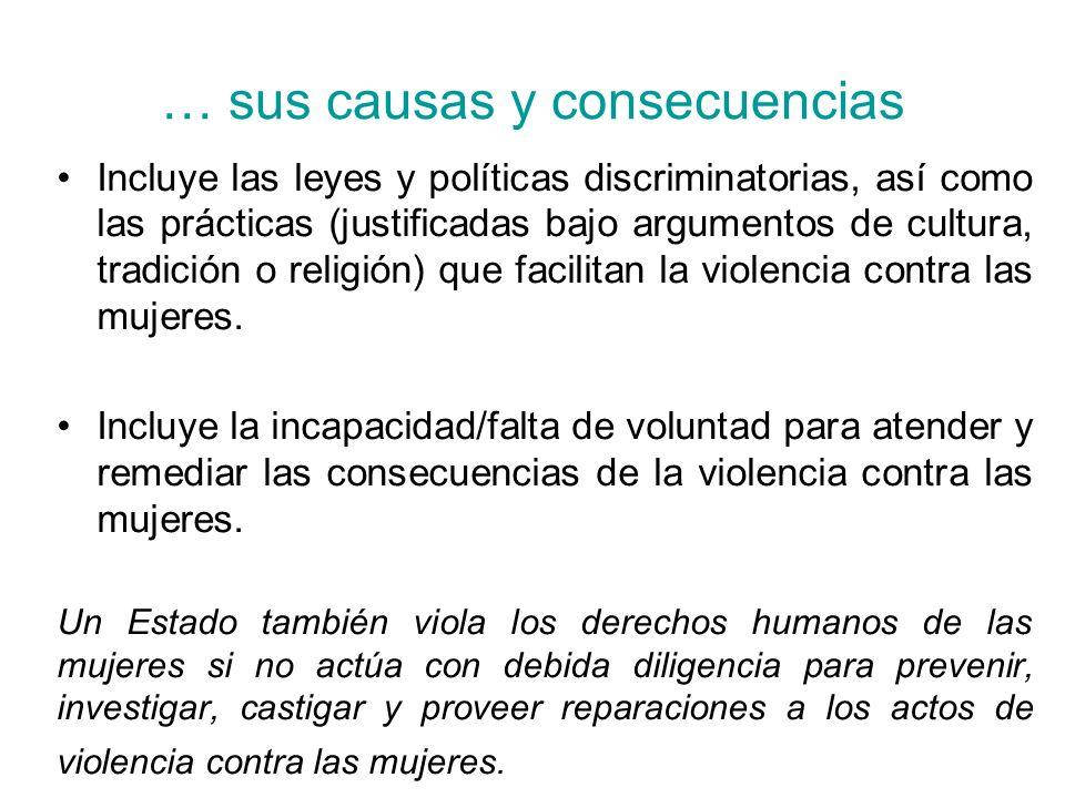 … sus causas y consecuencias