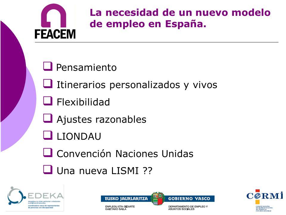 La necesidad de un nuevo modelo de empleo en España.