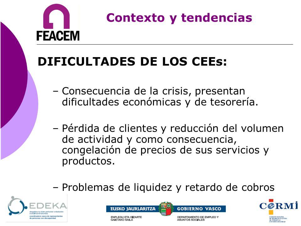 DIFICULTADES DE LOS CEEs: