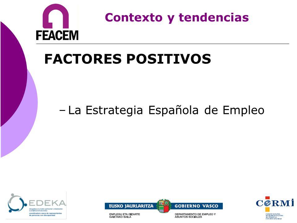 FACTORES POSITIVOS Contexto y tendencias
