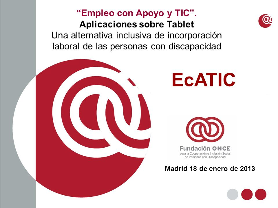 Empleo con Apoyo y TIC . Aplicaciones sobre Tablet