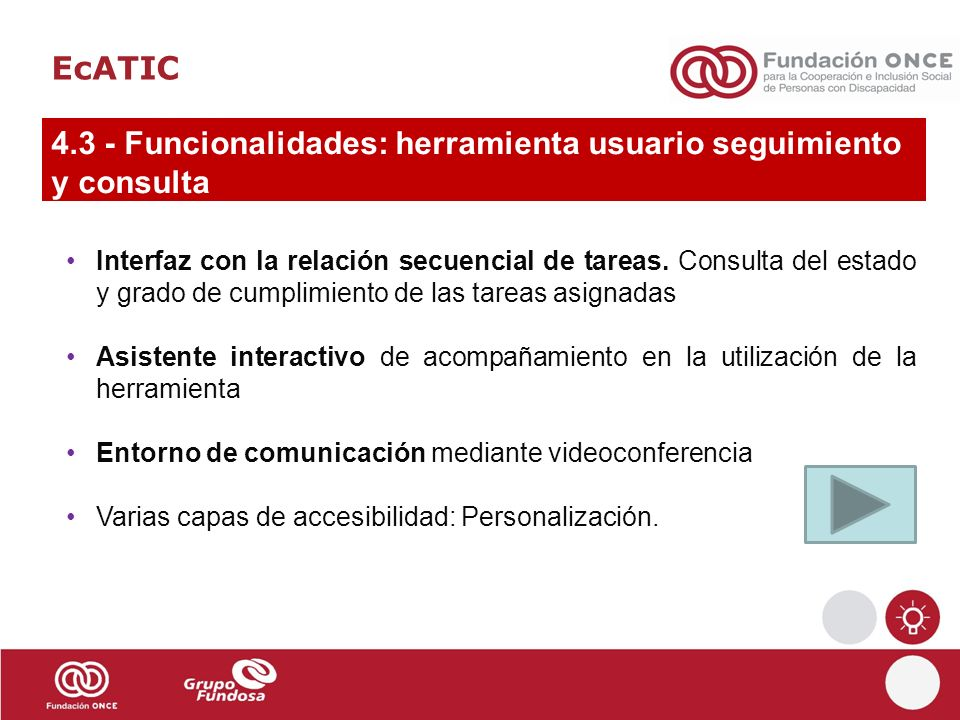 4.3 - Funcionalidades: herramienta usuario seguimiento y consulta