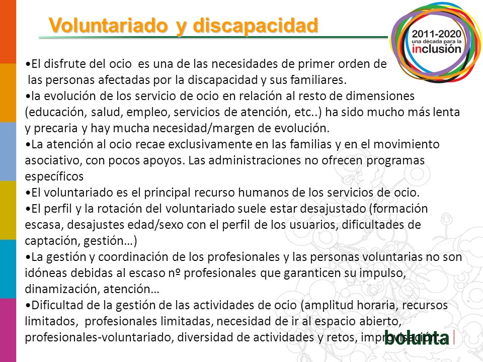 Voluntariado y discapacidad