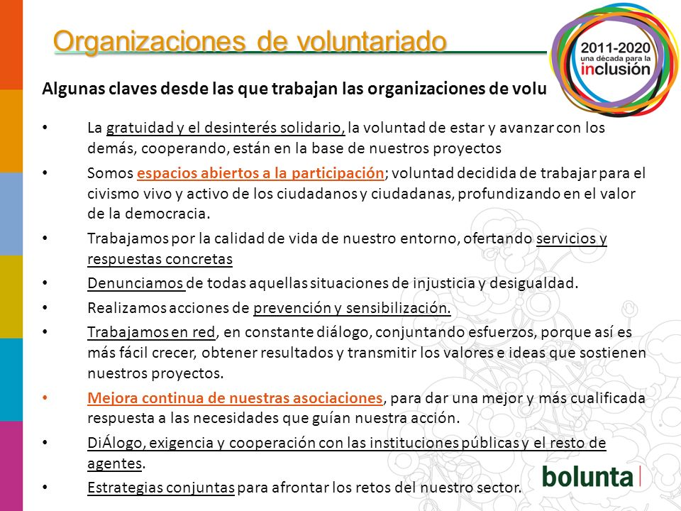 Organizaciones de voluntariado