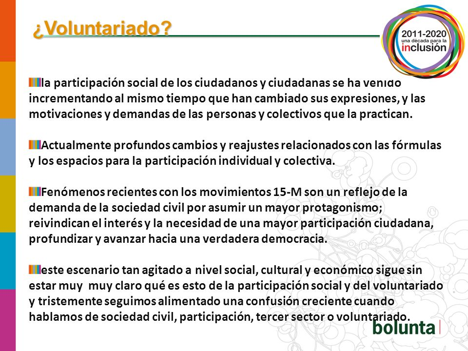 ¿Voluntariado