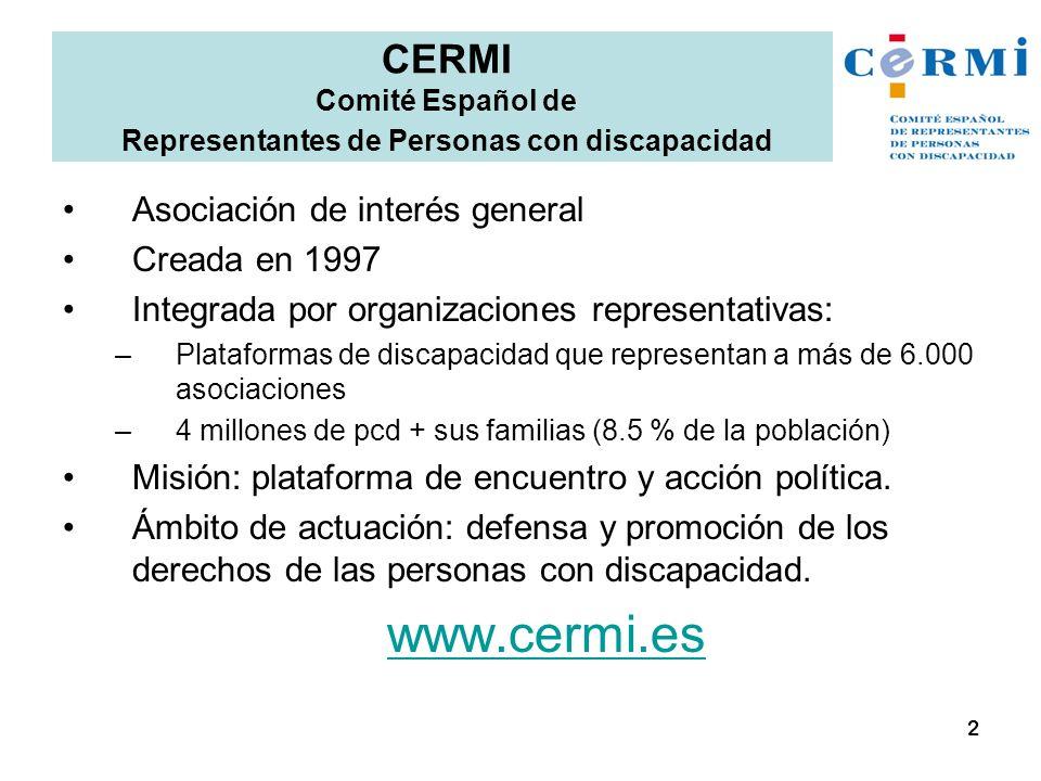 CERMI Comité Español de Representantes de Personas con discapacidad