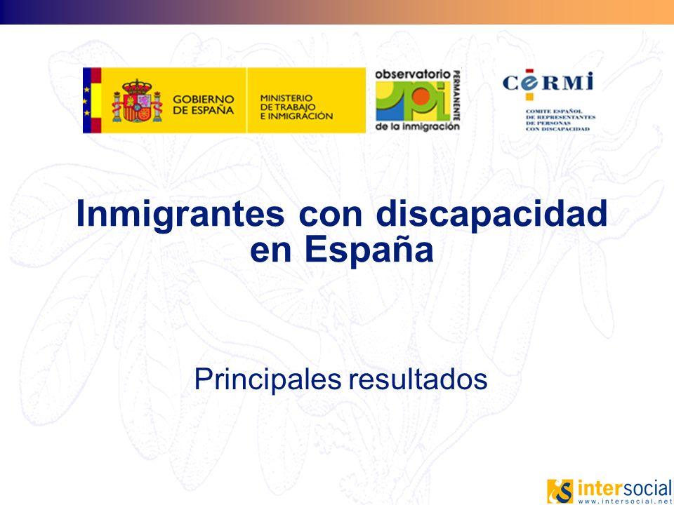 Inmigrantes con discapacidad en España
