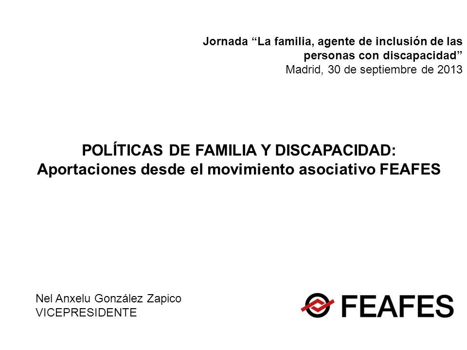 POLÍTICAS DE FAMILIA Y DISCAPACIDAD: