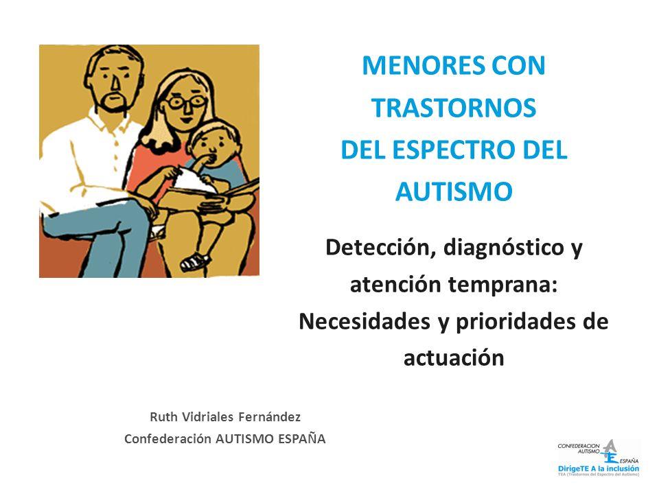 MENORES CON TRASTORNOS DEL ESPECTRO DEL AUTISMO