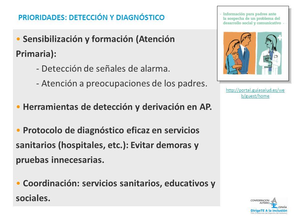 Sensibilización y formación (Atención Primaria):