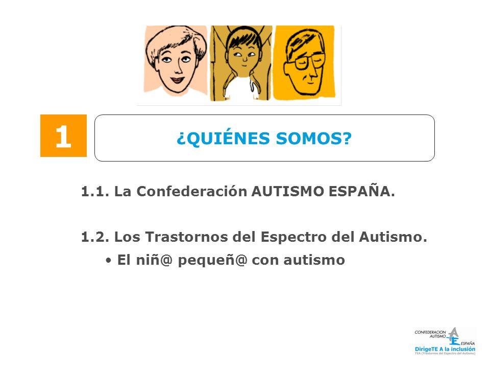 1 ¿QUIÉNES SOMOS 1.1. La Confederación AUTISMO ESPAÑA.