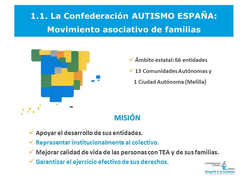 1.1. La Confederación AUTISMO ESPAÑA: Movimiento asociativo de familias