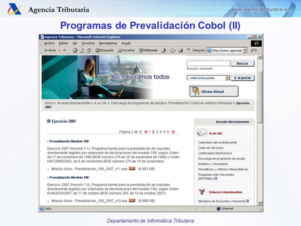 Programas de Prevalidación Cobol (II)
