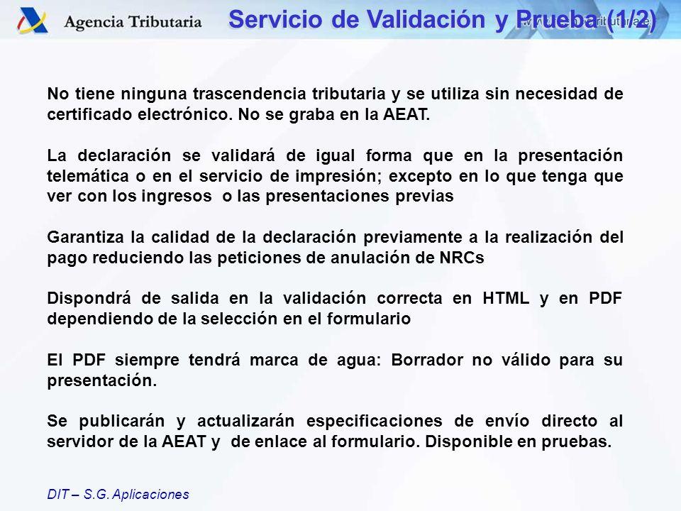 Servicio de Validación y Prueba (1/2)