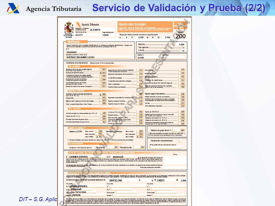 Servicio de Validación y Prueba (2/2)