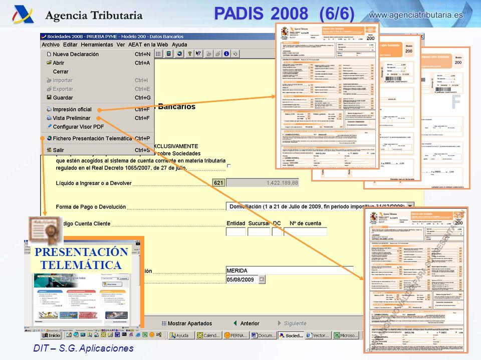 PADIS 2008 (6/6) PRESENTACIÓN TELEMÁTICA