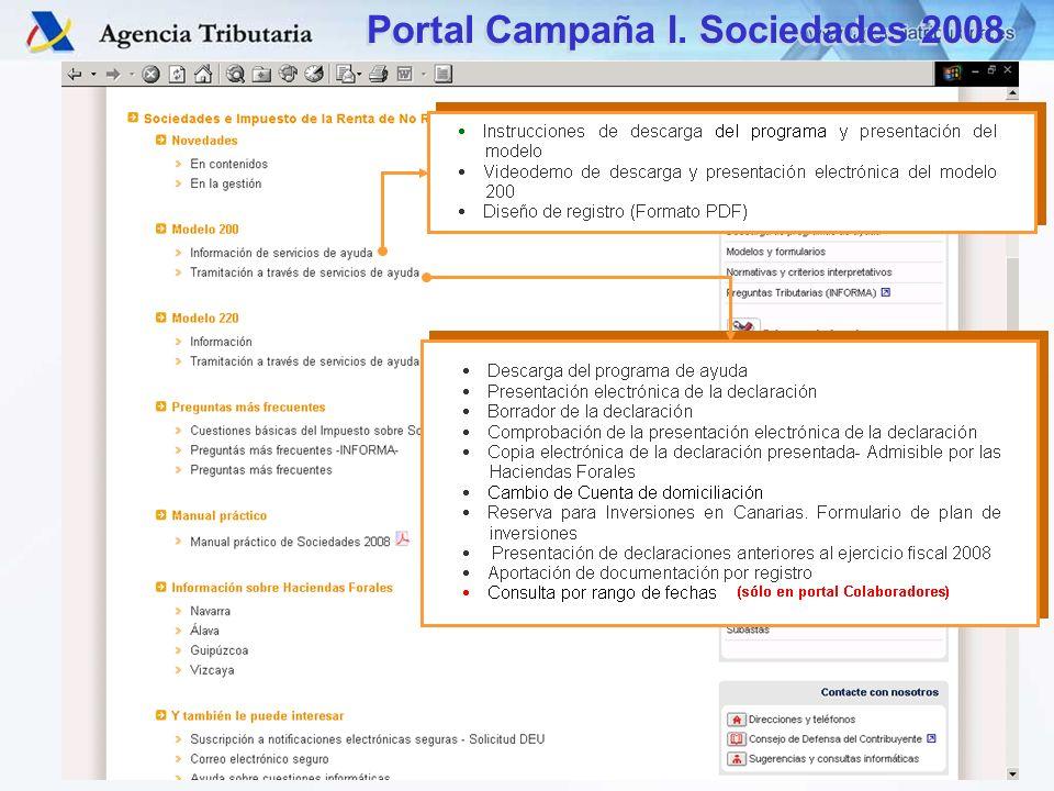 Portal Campaña I. Sociedades 2008