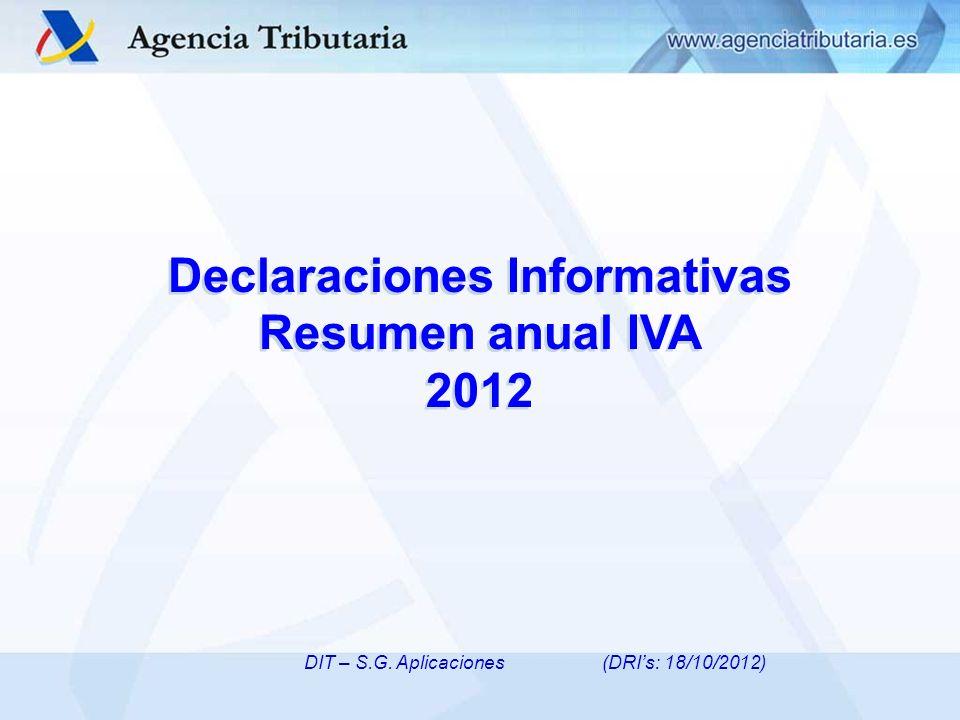 Declaraciones Informativas Resumen anual IVA