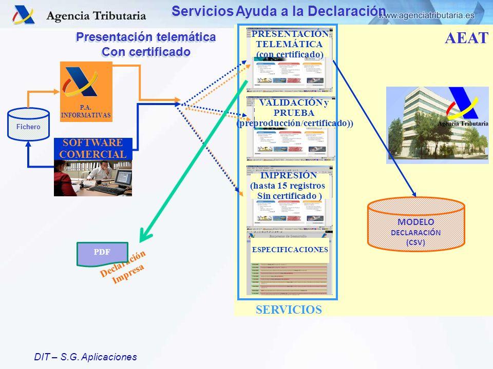 Servicios Ayuda a la Declaración Presentación telemática