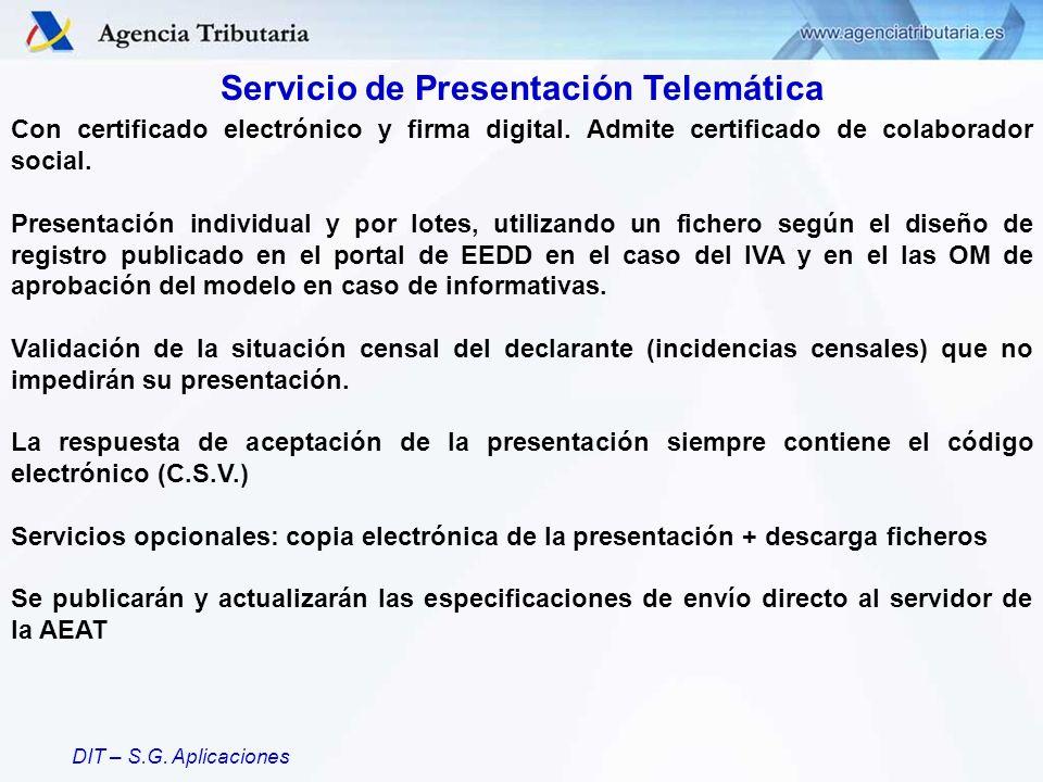 Servicio de Presentación Telemática