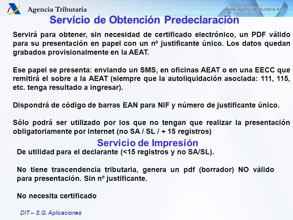 Servicio de Obtención Predeclaración