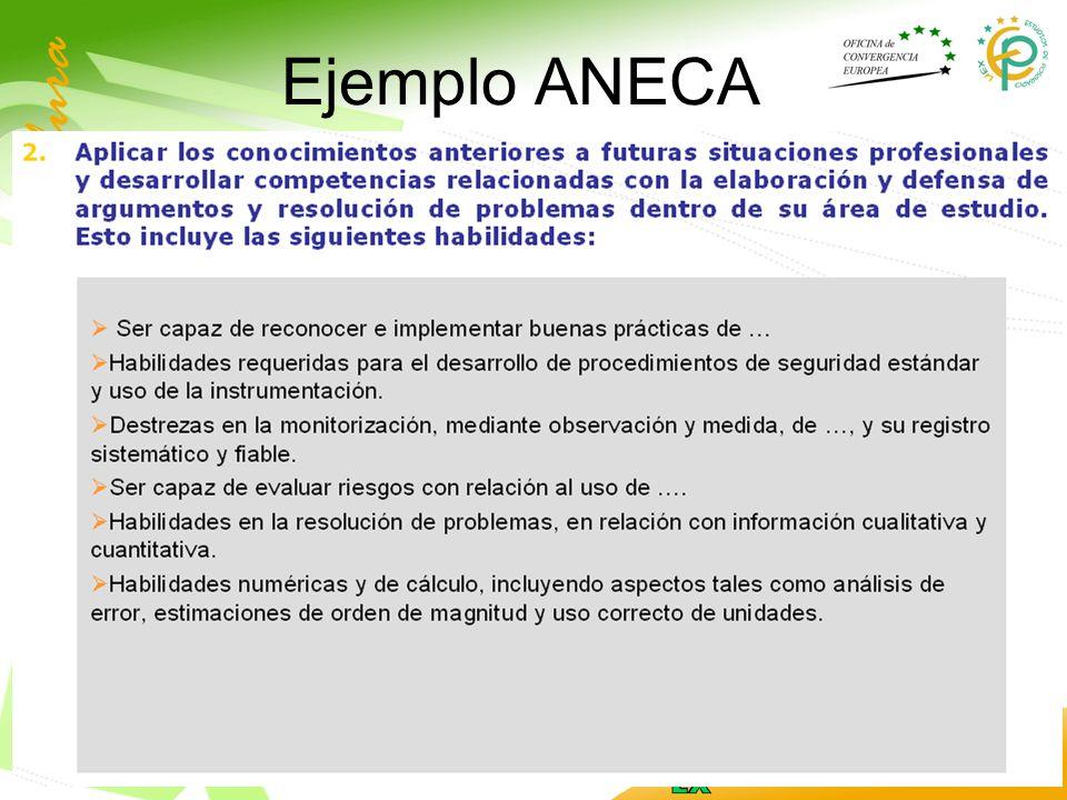 Ejemplo ANECA