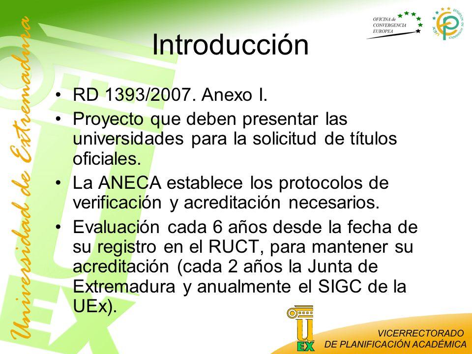 Introducción RD 1393/2007. Anexo I.