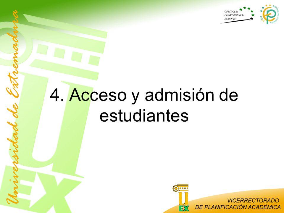 4. Acceso y admisión de estudiantes