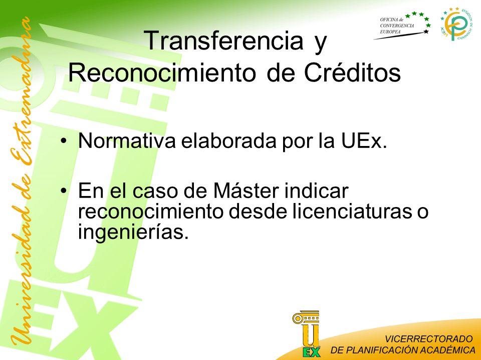 Transferencia y Reconocimiento de Créditos