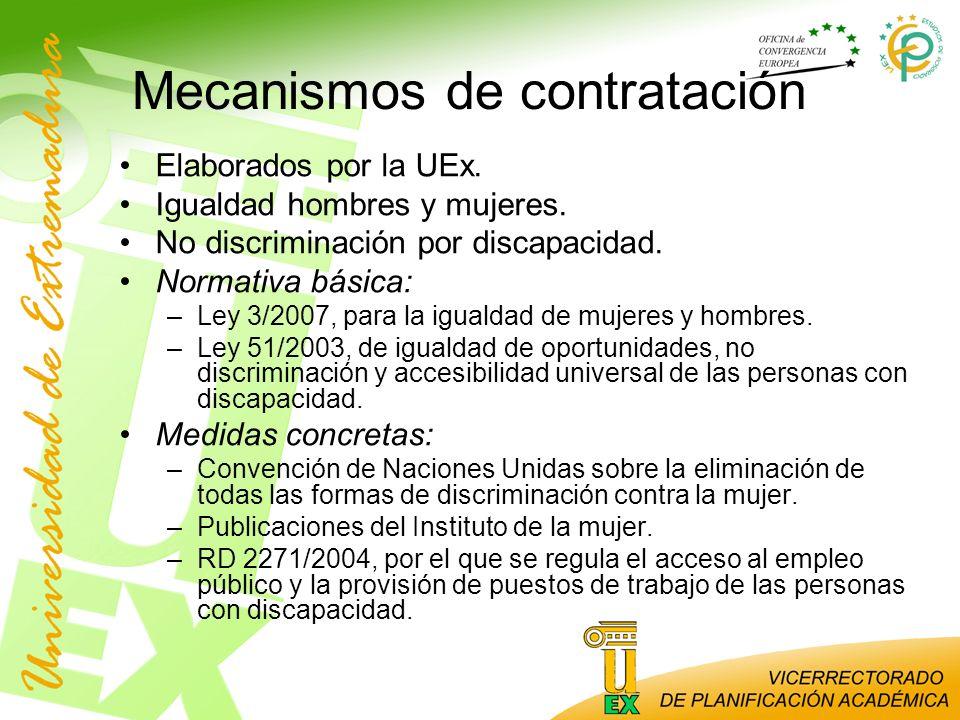 Mecanismos de contratación