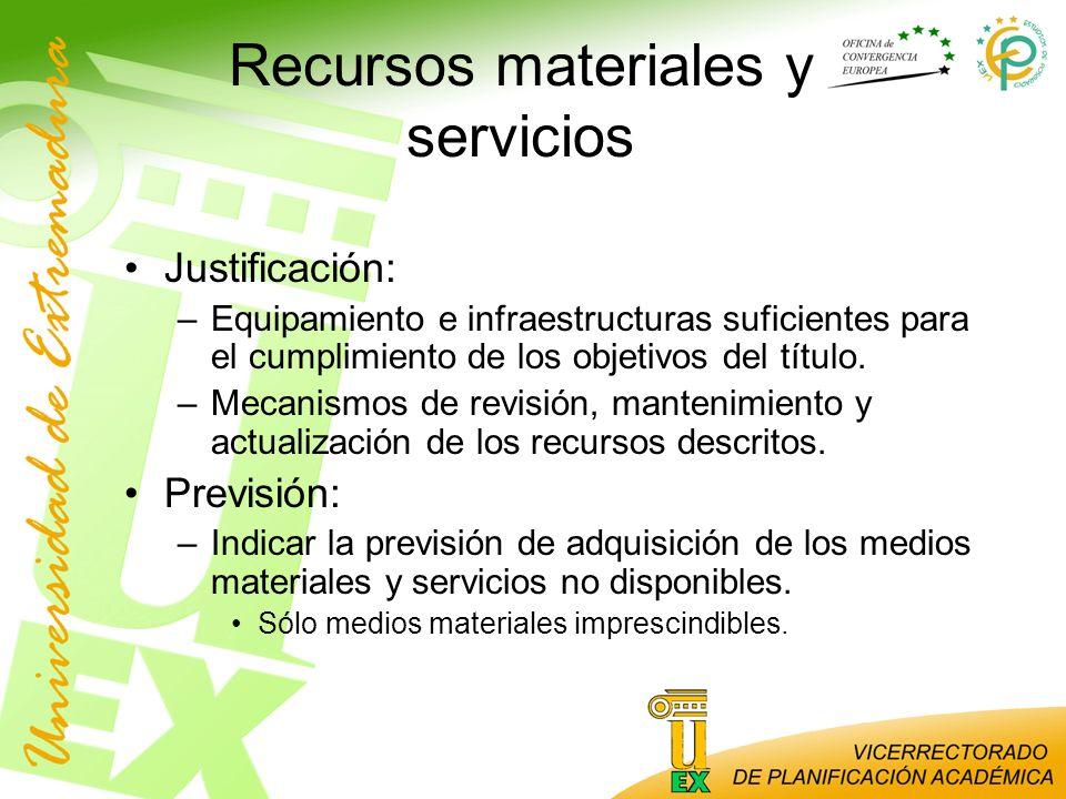 Recursos materiales y servicios