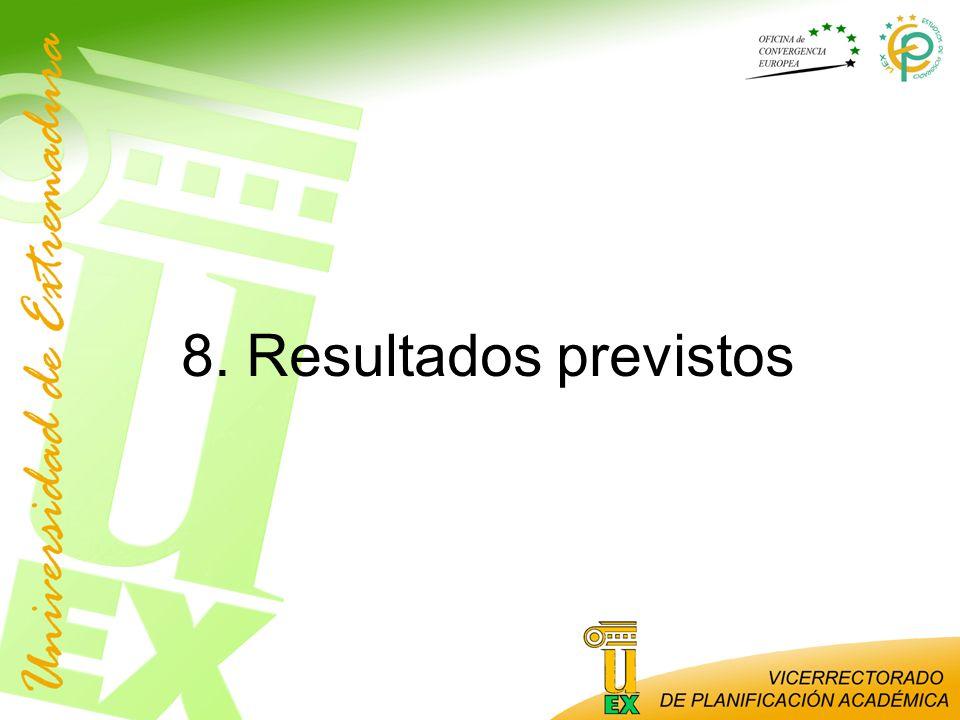 8. Resultados previstos