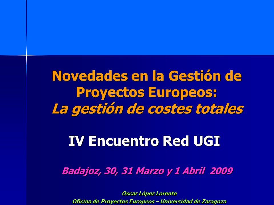 Oficina de Proyectos Europeos – Universidad de Zaragoza