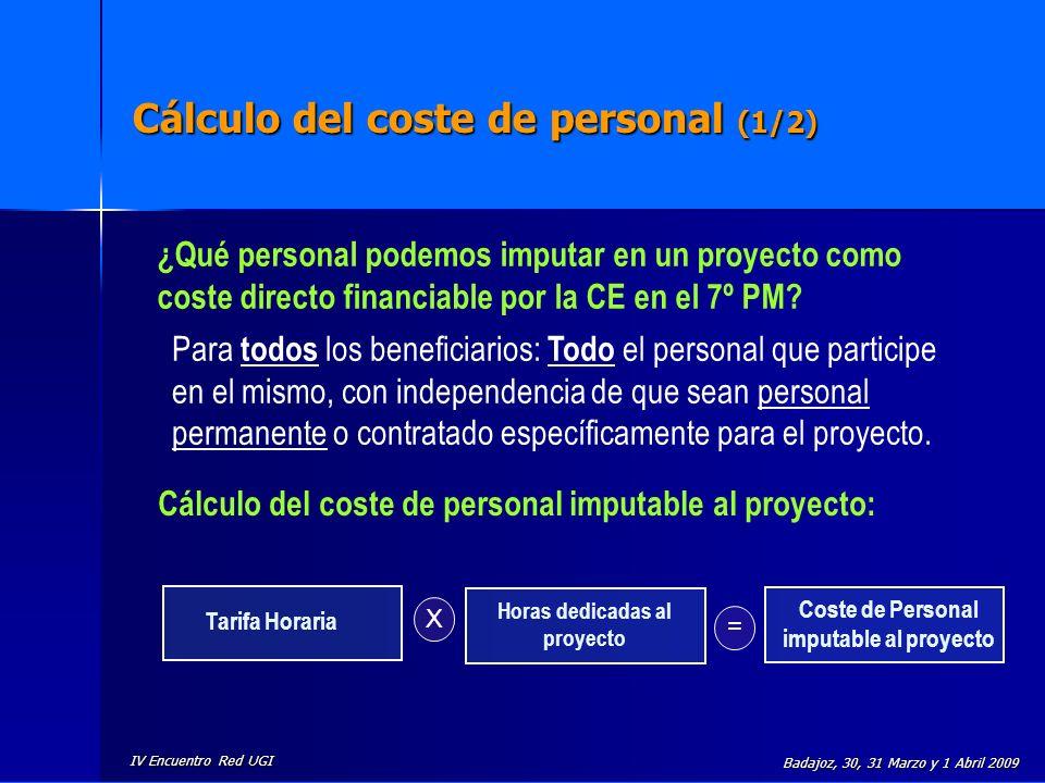 Cálculo del coste de personal (1/2)