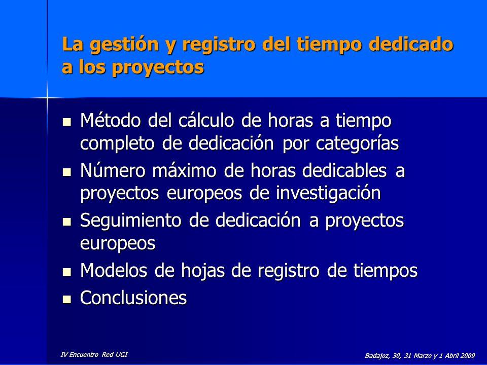 La gestión y registro del tiempo dedicado a los proyectos