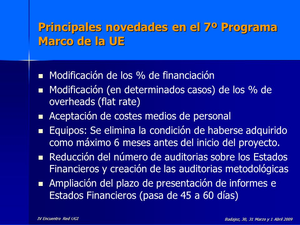 Principales novedades en el 7º Programa Marco de la UE