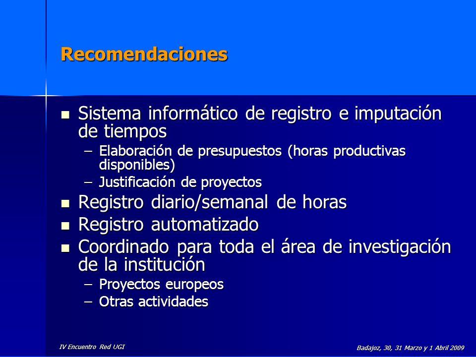 Sistema informático de registro e imputación de tiempos