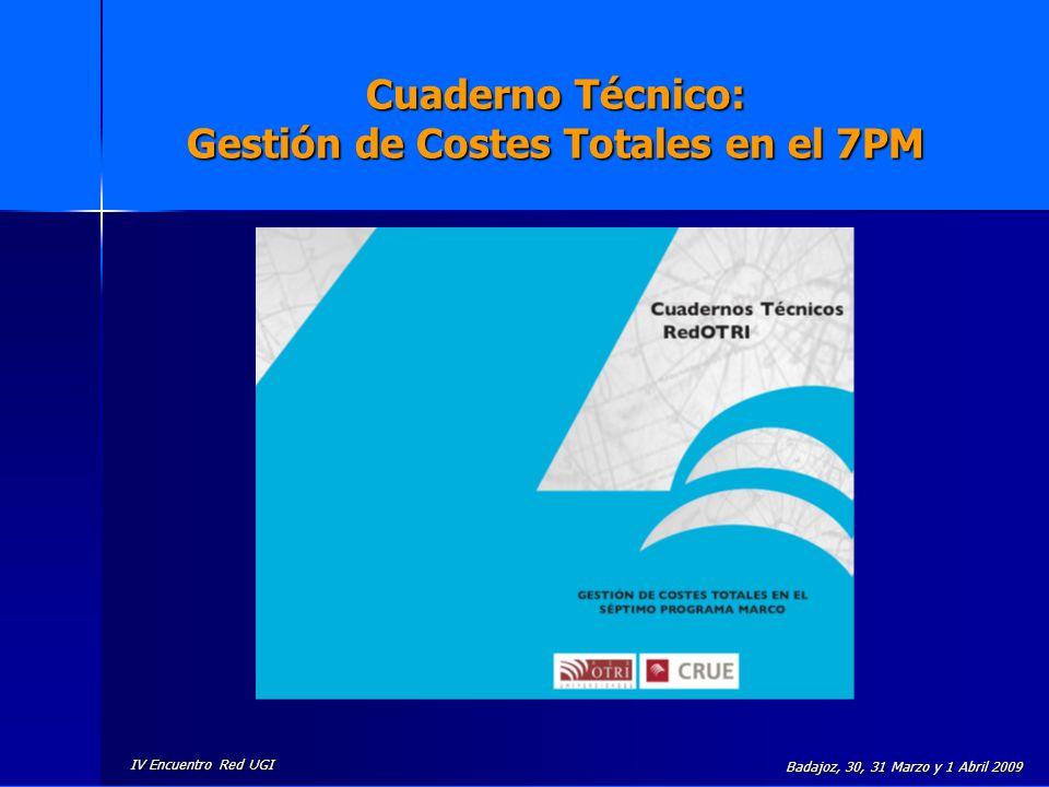 Cuaderno Técnico: Gestión de Costes Totales en el 7PM