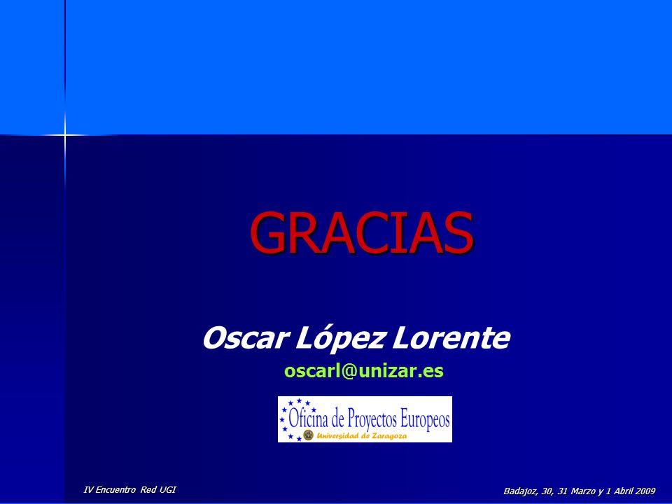GRACIAS Oscar López Lorente oscarl@unizar.es