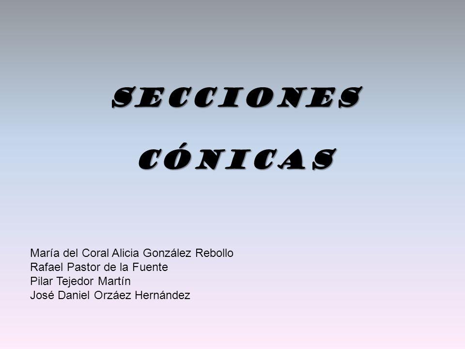 Secciones Cónicas María del Coral Alicia González Rebollo